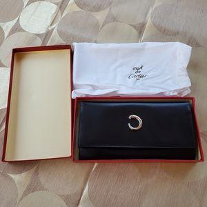 Must De Cartier Paris Original Leather Wallet.